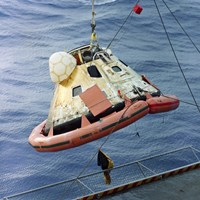 The Apollo 8 Capsule Being Hoisted Aboard the Recovery Carrier - various sizes