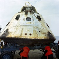 Close-up View of the Apollo 9 Command Module After Recovery - various sizes, FulcrumGallery.com brand