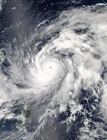 Typhoon Sanba over the Pacific Ocean and Part of the Philippines - various sizes