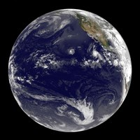 View of Earth Showing Three Tropical Cyclones in the Pacific Ocean - various sizes - $47.49