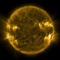 Solar Activity on the Sun Fine Art Print