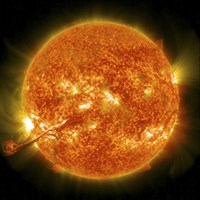 Magnificent Coronal Mass Ejection Erupts on the Sun - various sizes