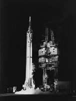 Mercury-Redstone 3 Missile on Launch Pad, Cape Canaveral, Florida Fine Art Print