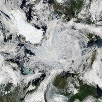 A strong storm Lingering in the Center of the Arctic Ocean - various sizes - $47.49