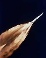 Apollo 6 spacecraft Leaves a Fiery Trail in the Sky after Launch - various sizes, FulcrumGallery.com brand