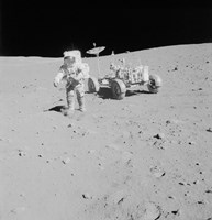 Apollo 15 Astronaut Walks away from the Lunar Roving Vehicle - various sizes, FulcrumGallery.com brand