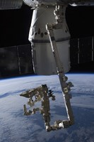 The SpaceX Dragon Commercial Cargo Craft Berthed to the ISS - various sizes - $47.49