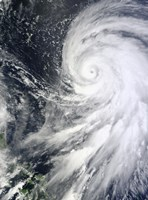 Typhoon Bolaven northeast of the Philippines - various sizes