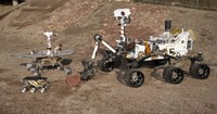 Third Generations of Mars Rovers - various sizes