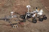 Three Generations of Mars Rovers Fine Art Print