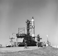 View of the Gemini-Titan 3 on its Launch Pad at Cape Canaveral, Florida - various sizes