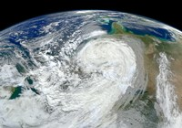 Satellite View of Hurricane Sandy Along the East Coast of the United States - various sizes