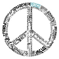 Peace (Different Languages) Fine Art Print
