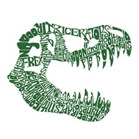 T Rex Skull (Popular Dinosaur Names) Fine Art Print