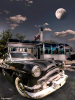 1953 Packard Clipper and Old Diner Fine Art Print