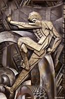Big Wheel Turning - Art Deco Fine Art Print