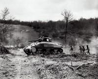 American Sherman tank units, 1943 Fine Art Print