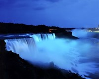 Niagara Falls at night, Niagara Falls, New York Fine Art Print