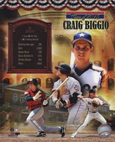 Craig Biggio MLB Hall of Fame Legends Composite Fine Art Print