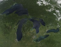 Satellite View of the Great Lakes - various sizes