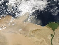 Satellite View of a Dust Storm over Egypt - various sizes