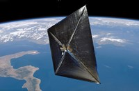 Artist concept of NanoSail-D in space - various sizes