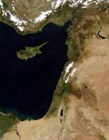 Satellite View of Snow in Lebanon - various sizes