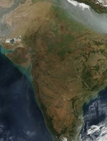 Satellite View of Central India - various sizes