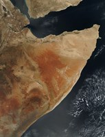 Satellite View of the Horn of Africa - various sizes