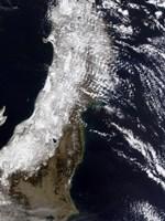 Satellite View of Northeast Japan - various sizes