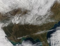 Snow Cover Stretching from Northeastern Texas to the Carolinas - various sizes