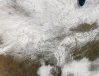 Satellite View of a Severe Winter Storm over the Midwestern United States - various sizes