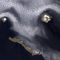 Satellite Image of Semisopochnoi Island in the Western Aleutian Islands of Alaska - various sizes