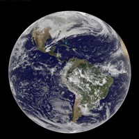 Full Earth of North America and South America - various sizes, FulcrumGallery.com brand