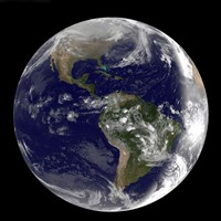 Earth showing North America and South America - various sizes, FulcrumGallery.com brand
