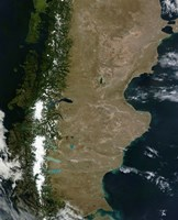 Satellite View of the Patagonia Region in South America - various sizes