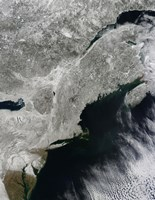 Satellite View of Snow in the Northeastern United States - various sizes, FulcrumGallery.com brand