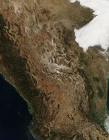 Satellite View of the Landscape of Central Mexico - various sizes