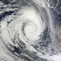 Tropical Cyclone Dianne - various sizes