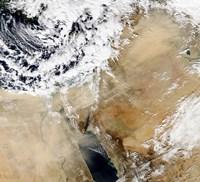 Satellite View of the Eastern Mediterranean - various sizes