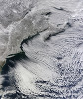 Satellite View of Clouds Across the Skies of the North Atlantic - various sizes