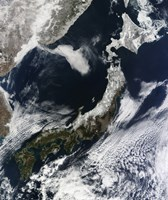 Satellite View of Japan - various sizes