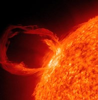 Close-up of a Solar Eruptive Prominence - various sizes