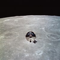 The Apollo 10 Command and Service Modules in Lunar Orbit - various sizes