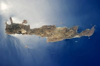 View from space of the island of Crete - various sizes