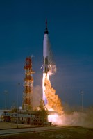 The Launch of the Mercury Atlas Unmanned Test Flight - various sizes