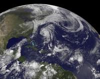 Tropical Cyclones Katia, Lee, Maria and Nate in the Atlantic Ocean - various sizes