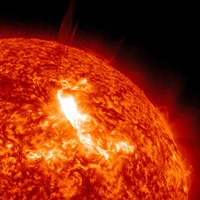 An M87 Class Flare Erupts on the Sun's surface - various sizes