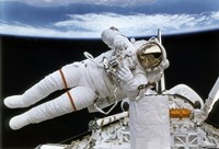 Astronaut Participates in Extravehicular Activity 1 Fine Art Print