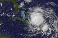 Satellite view of the Eye of Hurricane Irene as it Enters the Bahamas - various sizes